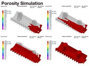 Porosity simulation